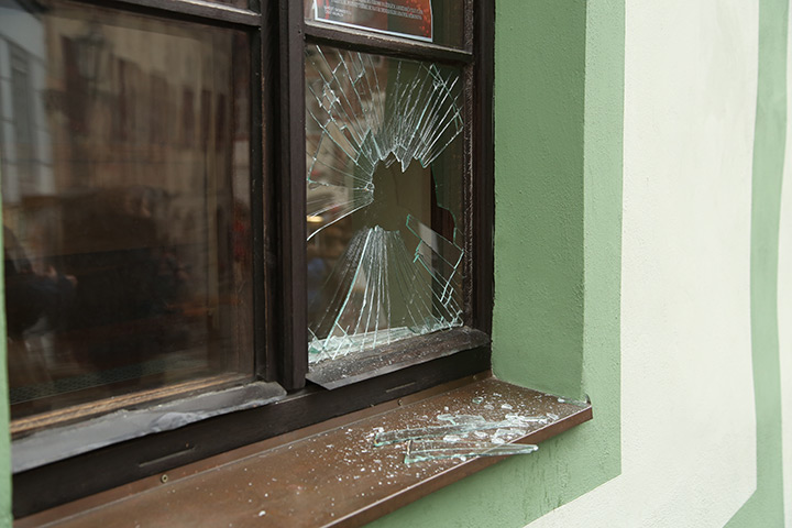 A2B Glass are able to board up broken windows while they are being repaired in Eltham.